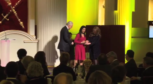 Kavita Oberoi Receiving Her Beacon Award for philanthropic work - 2013