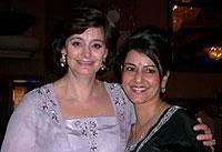 Kavita with Cherie Blair