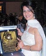 Kavita with her award